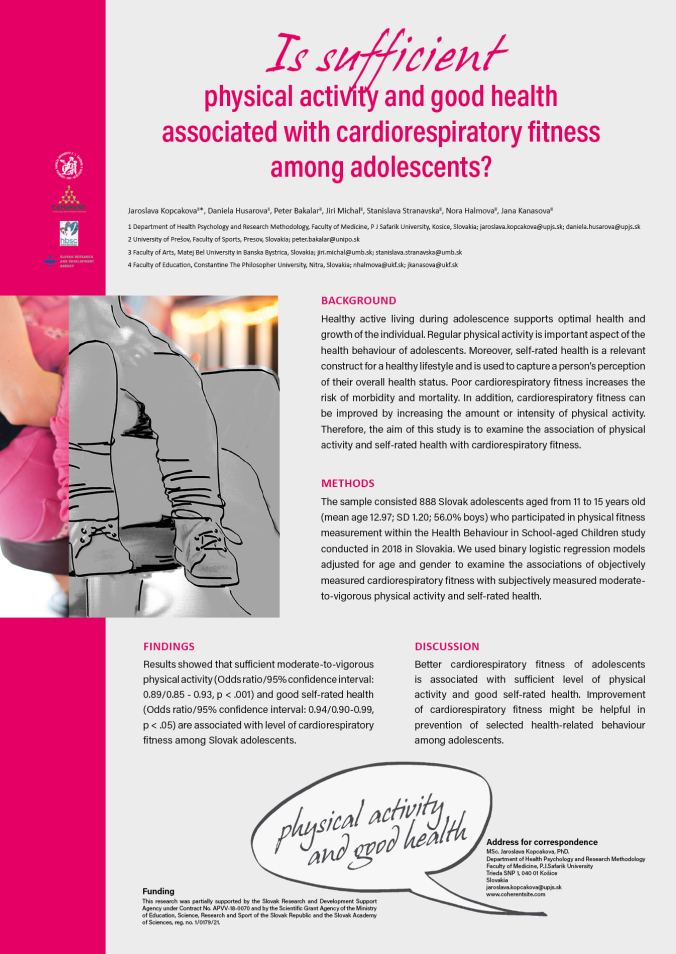 European Health Psychology Society - Is sufficient physical activity and good health associated with cardiorespiratory fitness among adolescents?